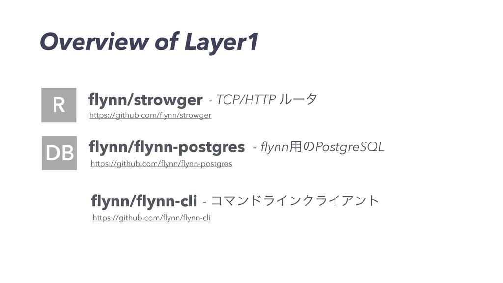 Overview of Layer1 D flynn/strowger flynn/flynn-cl...