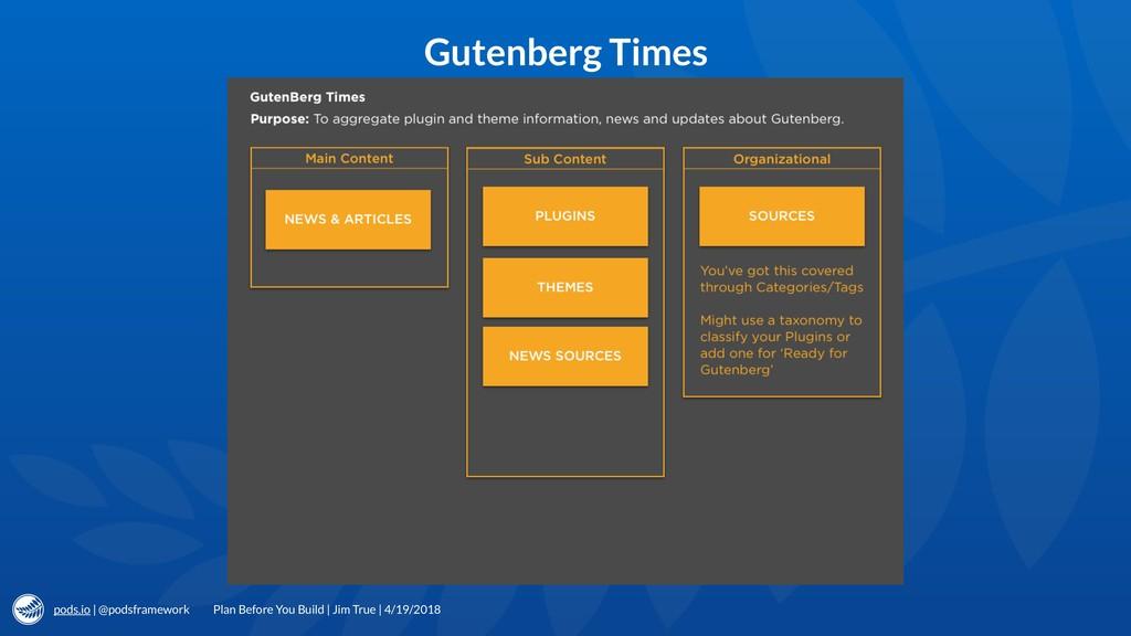 pods.io | @podsframework Gutenberg Times Plan B...