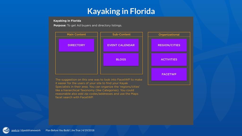 pods.io | @podsframework Kayaking in Florida Pl...