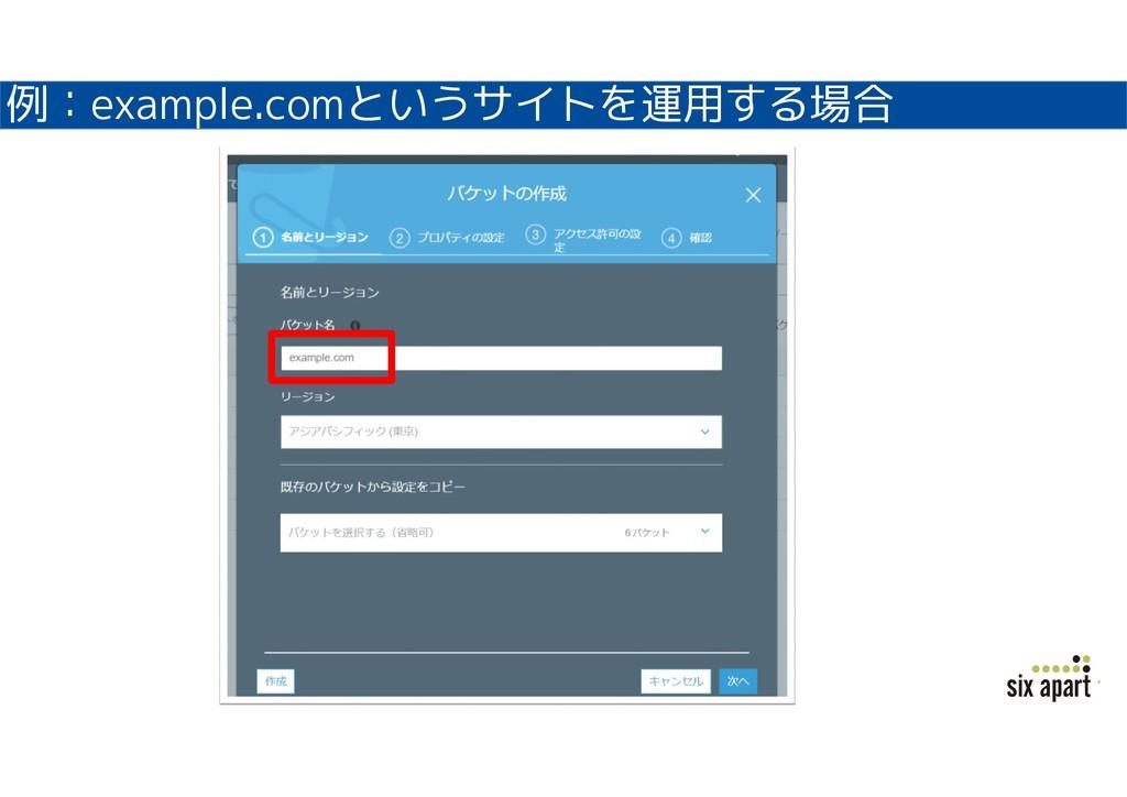 例:example.comというサイトを運用する場合