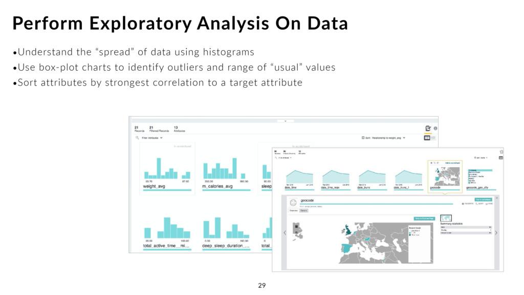 "•Understand the ""spread"" of data using histogra..."