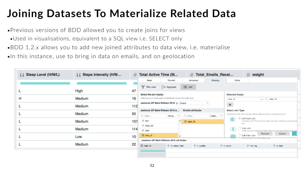 •Previous versions of BDD allowed you to create...