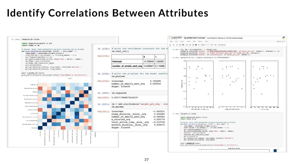 Identify Correlations Between Attributes 37