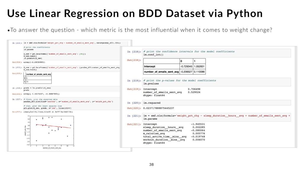 Use Linear Regression on BDD Dataset via Python...