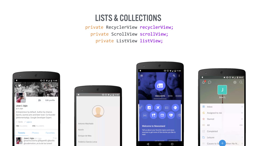 Lists & collections private RecyclerView recy...
