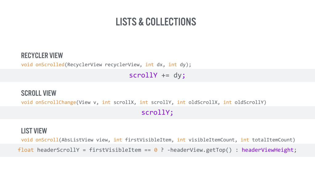 Lists & collections void onScrolled(RecyclerVi...