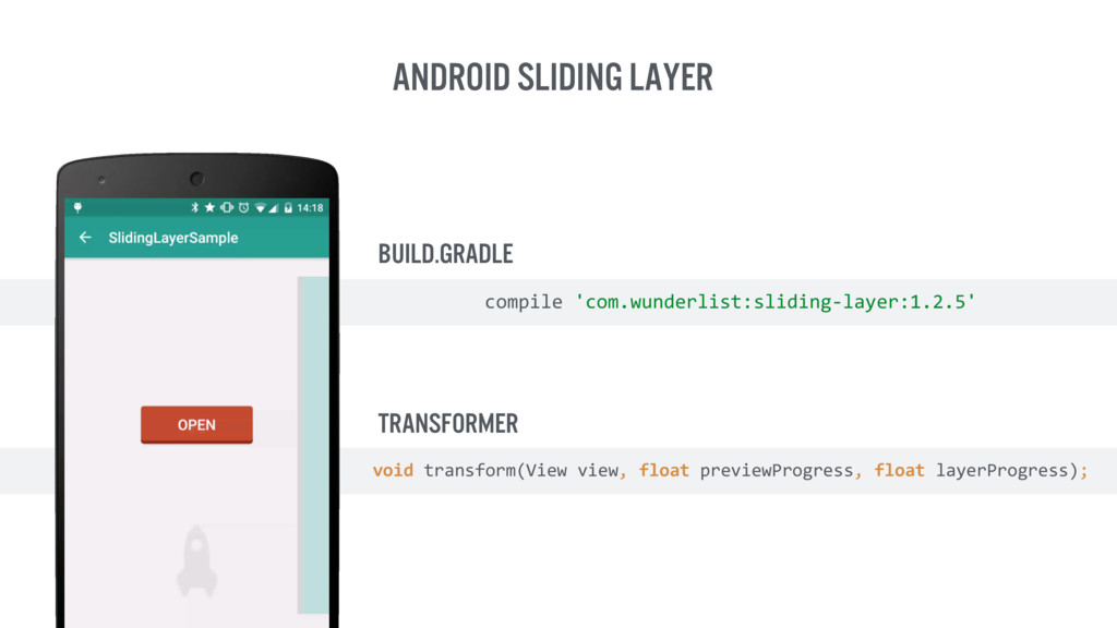 Android Sliding Layer Transformer compile 'com...