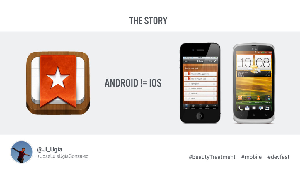 The story android != iOS Image Placehol +JoseLu...