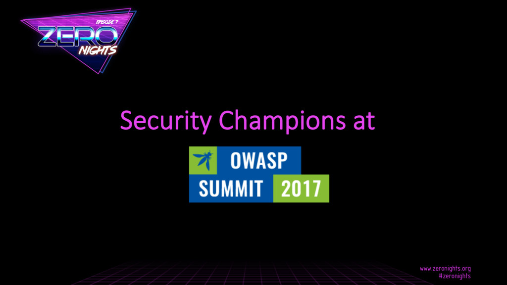Security Champions at