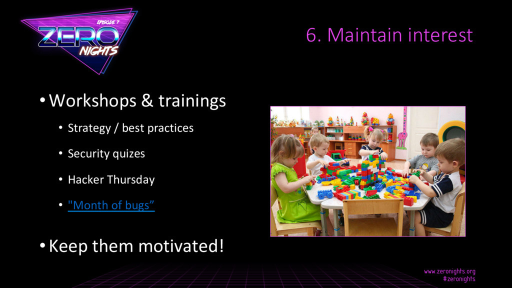 •Workshops & trainings • Strategy / best prac...