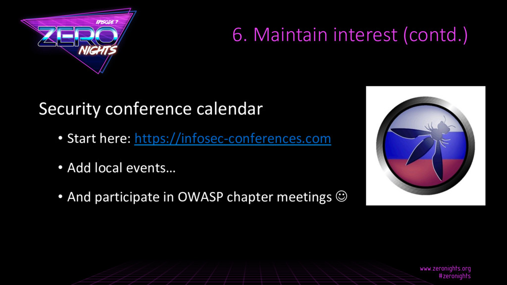 Security conference calendar • Start here: htt...