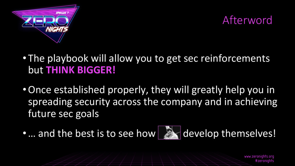 •The playbook will allow you to get sec reinfo...