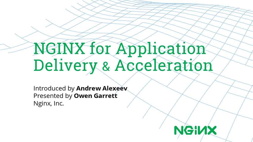NGINX for Application Delivery & Acceleration I...