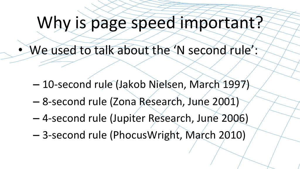 Why is page speed important?  •...