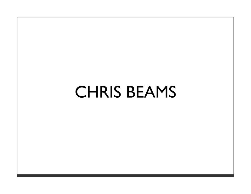 CHRIS BEAMS