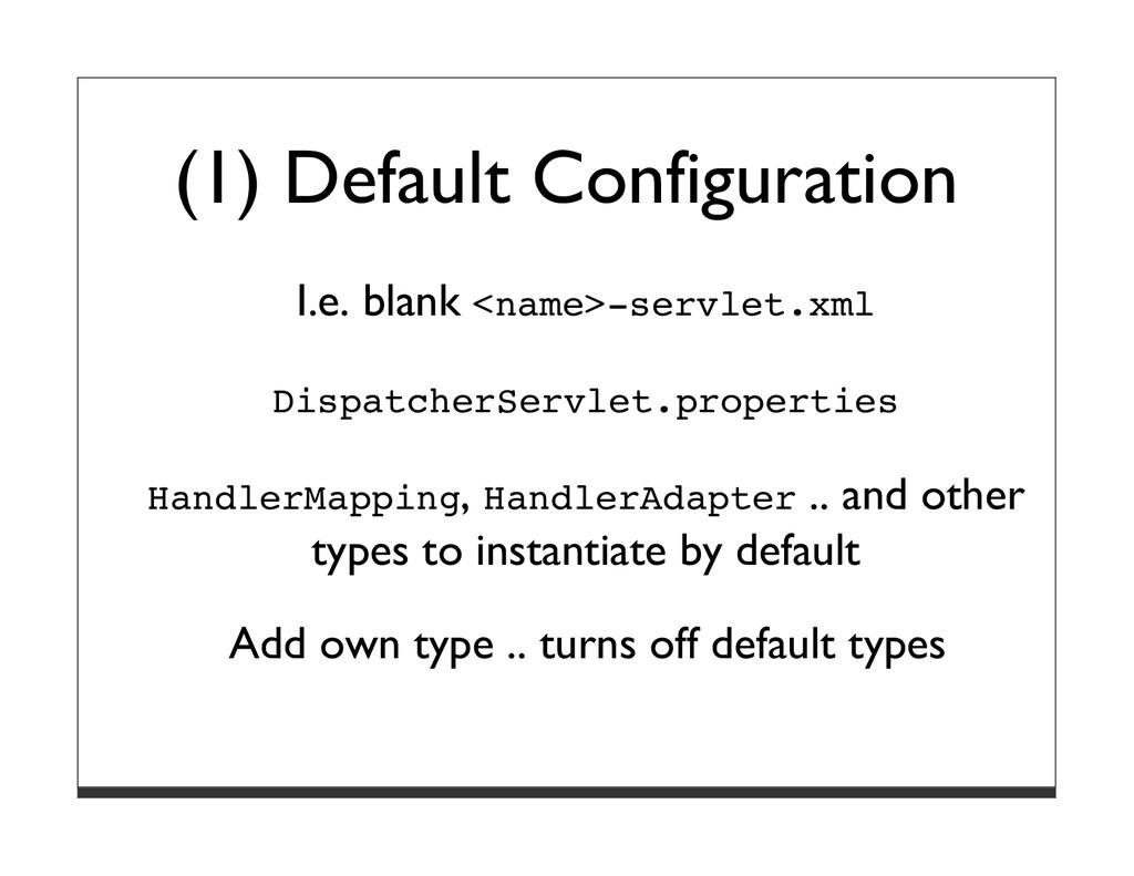 (1) Default Configuration I.e. blank <name>-ser...