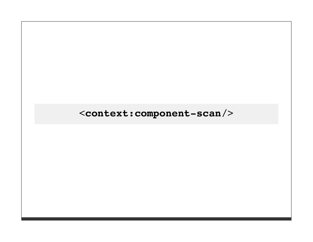 <context:component-scan/>