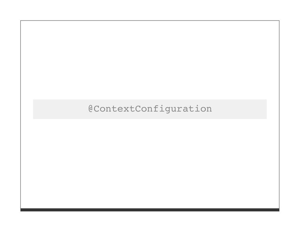 @ContextConfiguration