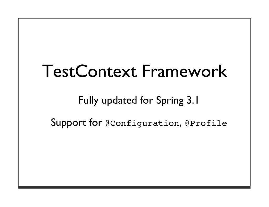 TestContext Framework Fully updated for Spring ...