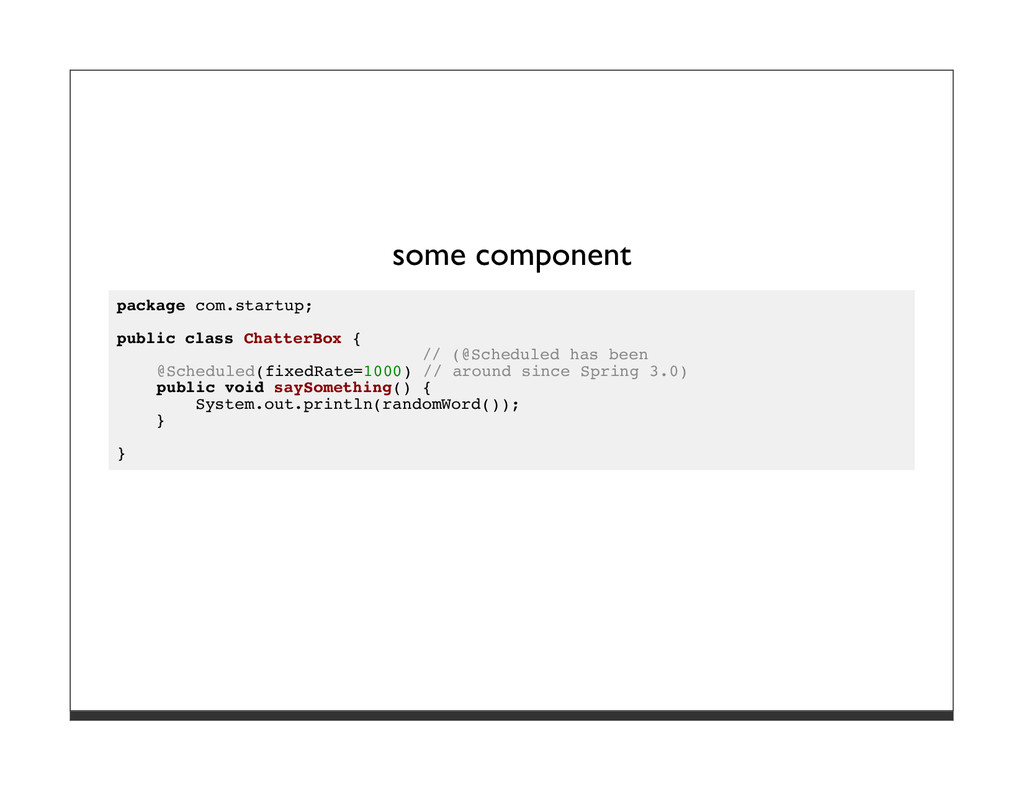 some component package com.startup; public clas...