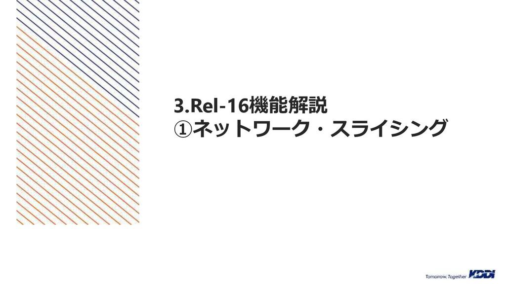 3.Rel-16機能解説 ①ネットワーク・スライシング