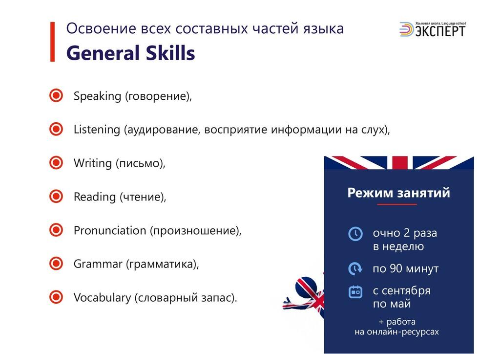 Языковая школа. Language school Speaking (говор...