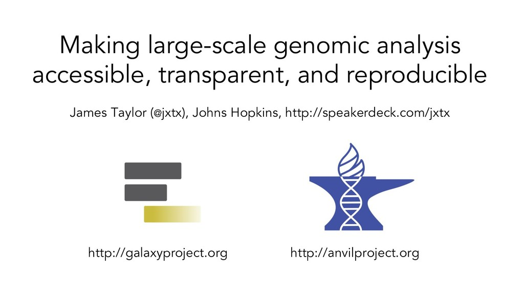 Making large-scale genomic analysis accessible,...