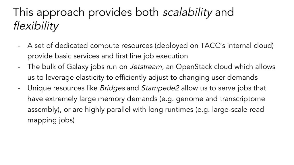 This approach provides both scalability and fle...