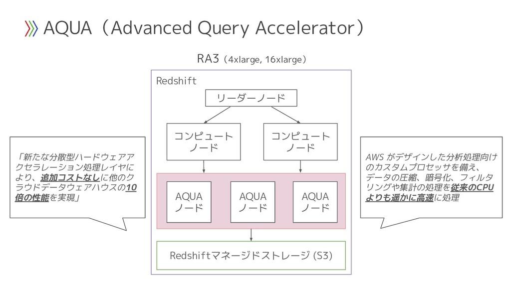 AQUA(Advanced Query Accelerator) Redshift リーダーノ...