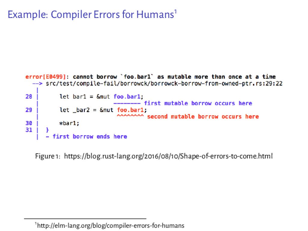 Example: Compiler Errors for Humans1 Figure 1: ...