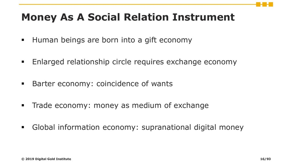 Money As A Social Relation Instrument ▪ Human b...