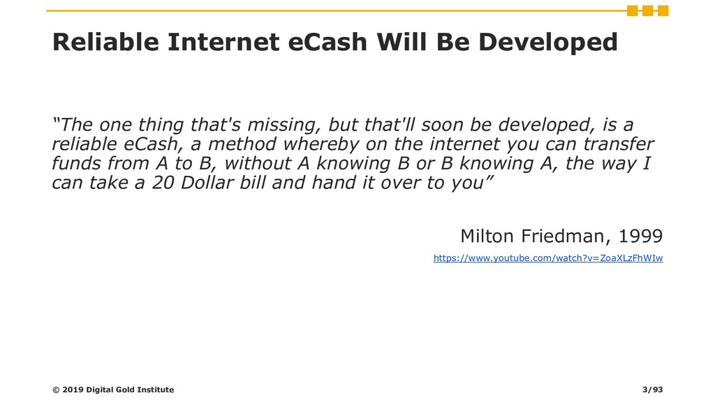 "Reliable Internet eCash Will Be Developed ""The ..."