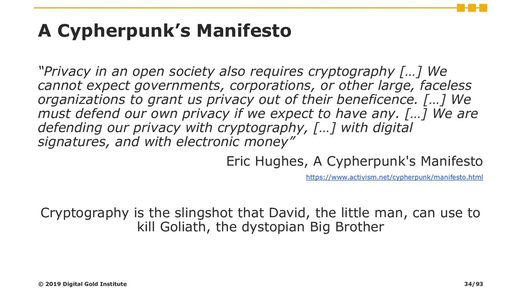 "A Cypherpunk's Manifesto ""Privacy in an open so..."