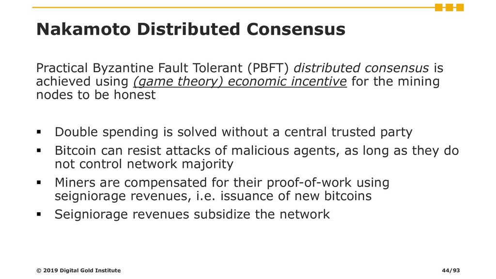 Nakamoto Distributed Consensus Practical Byzant...