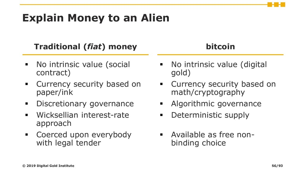 Explain Money to an Alien Traditional (fiat) mo...