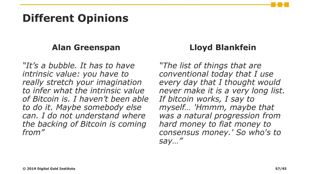 "Different Opinions Alan Greenspan ""It's a bubbl..."