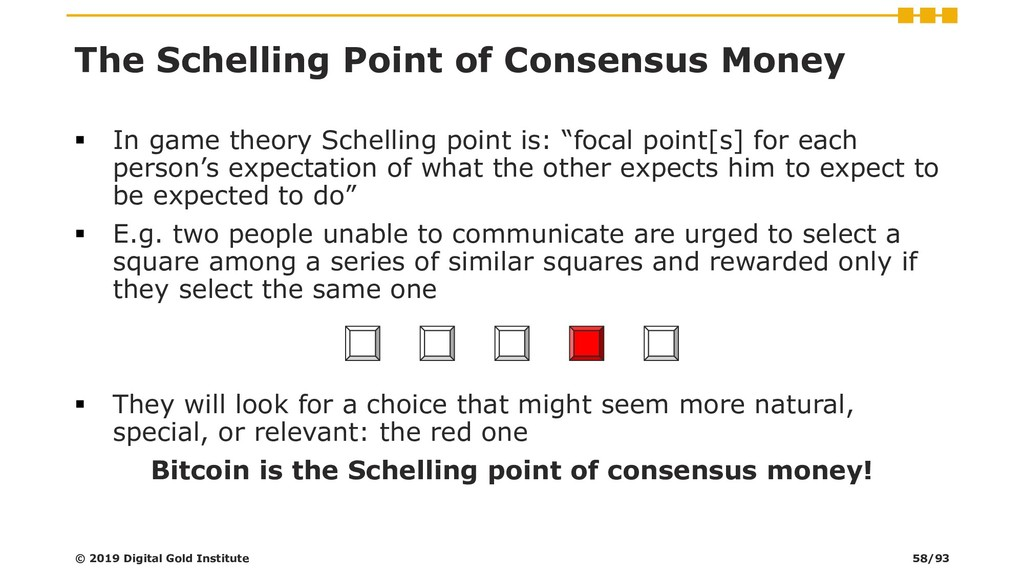 The Schelling Point of Consensus Money ▪ In gam...