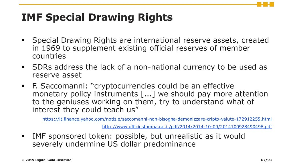 IMF Special Drawing Rights ▪ Special Drawing Ri...