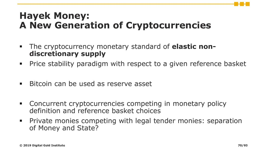 Hayek Money: A New Generation of Cryptocurrenci...