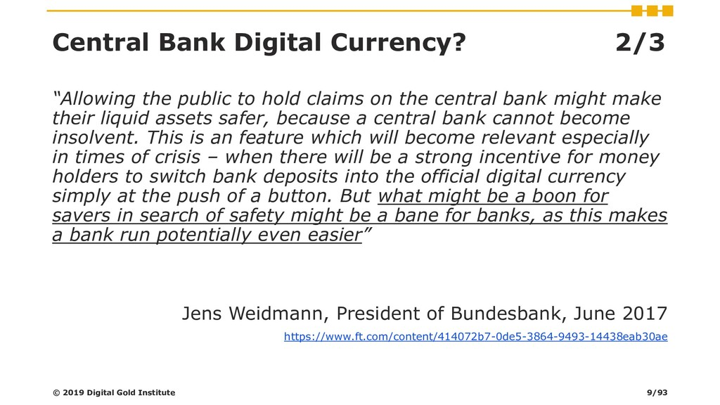 "Central Bank Digital Currency? 2/3 ""Allowing th..."
