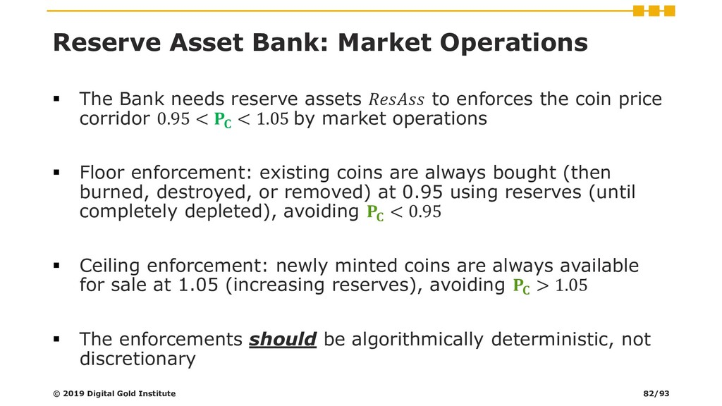 Reserve Asset Bank: Market Operations ▪ The Ban...
