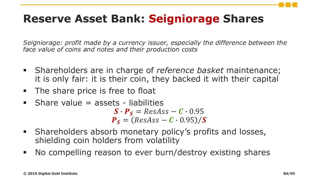 Seigniorage: profit made by a currency issuer, ...