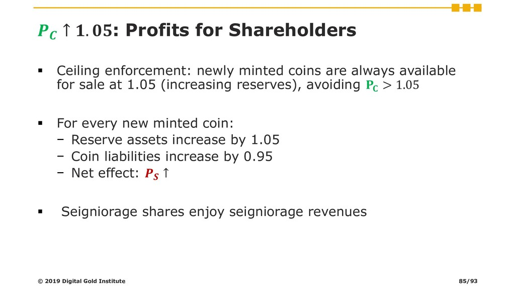 ↑ . : Profits for Shareholders ▪ Ceiling enfor...
