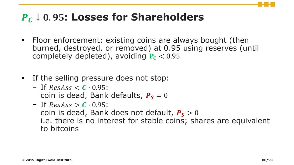 ↓ . : Losses for Shareholders ▪ Floor enforcem...
