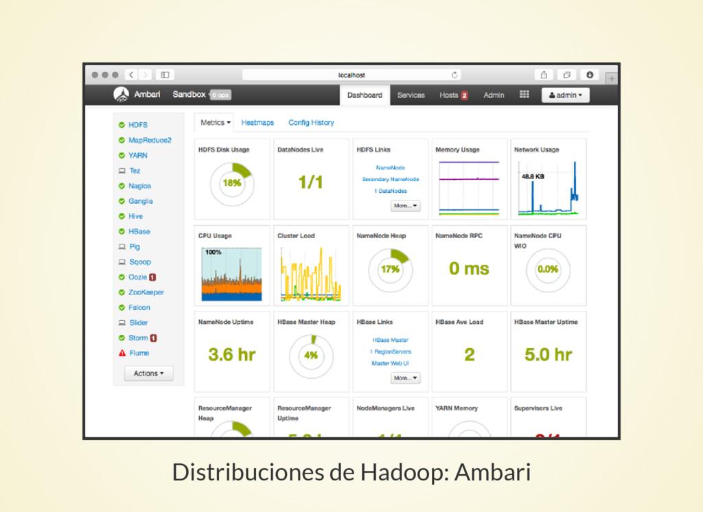 Distribuciones de Hadoop: Ambari