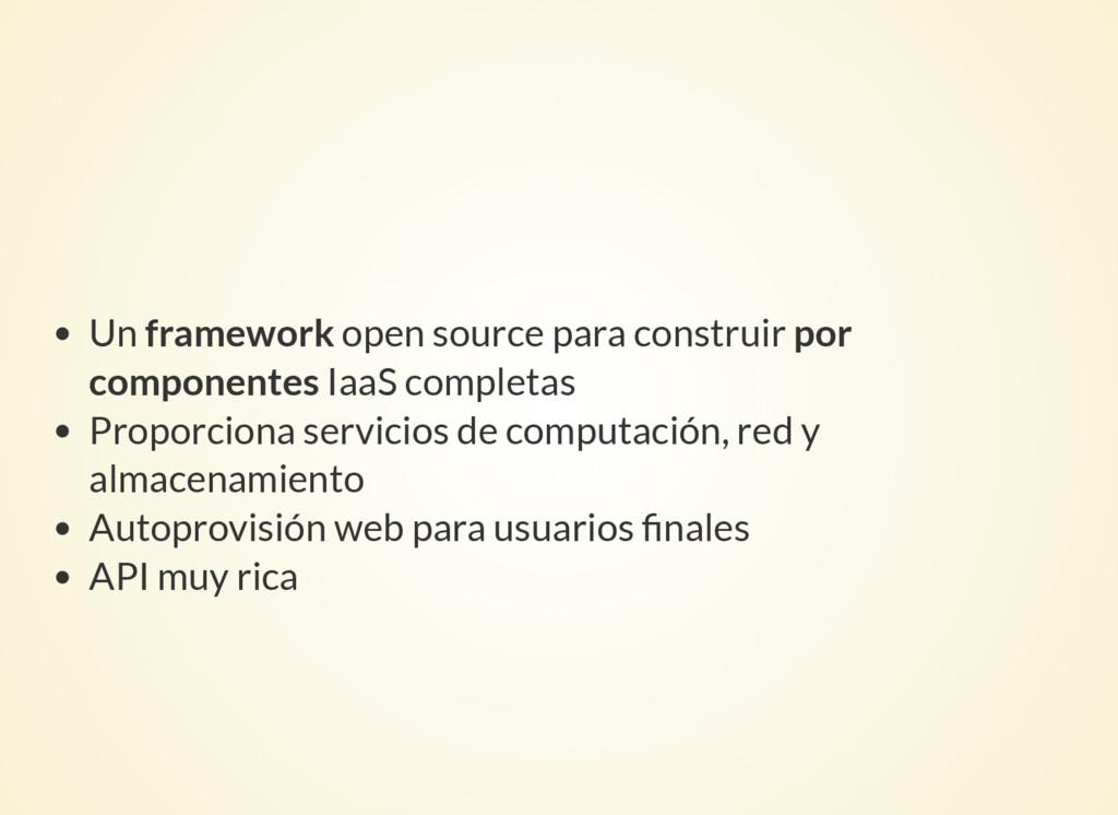 Un framework open source para construir por com...