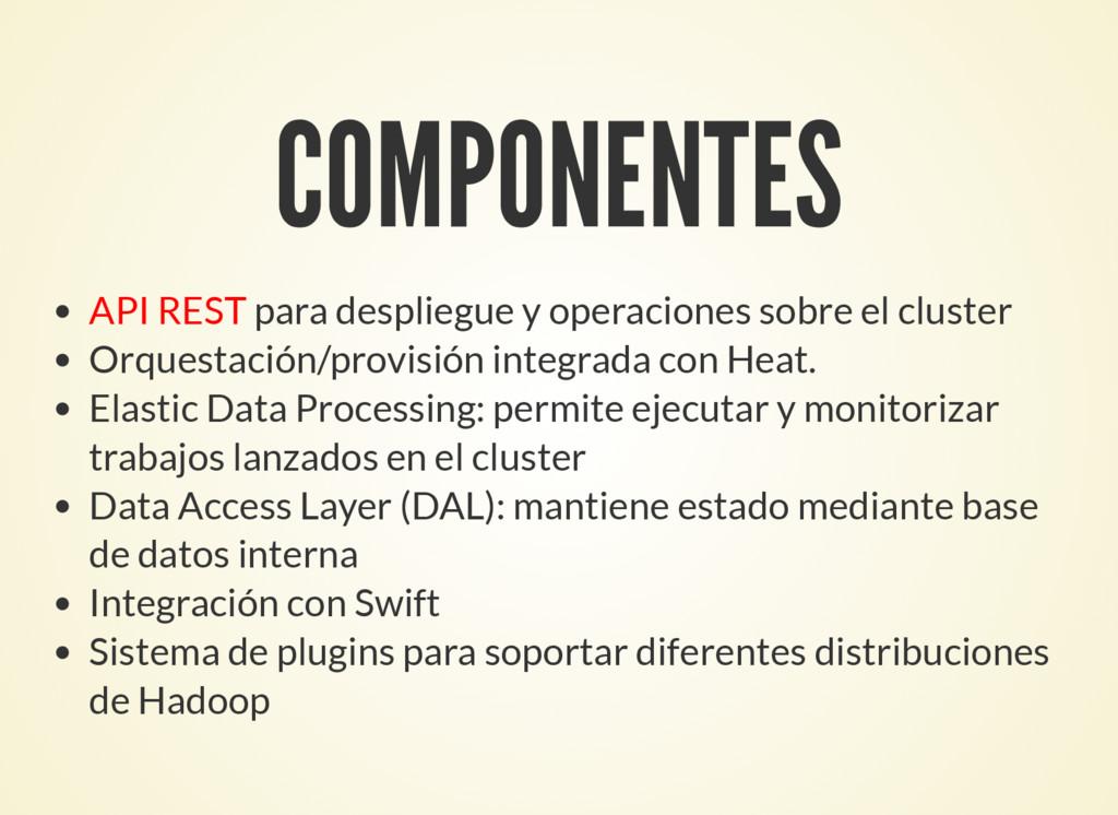 COMPONENTES API REST para despliegue y operacio...