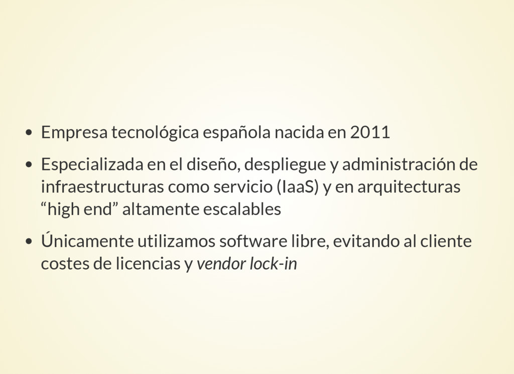 Empresa tecnológica española nacida en 2011 Esp...