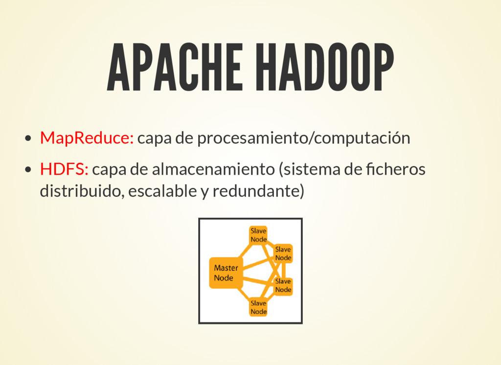 APACHE HADOOP MapReduce: capa de procesamiento/...