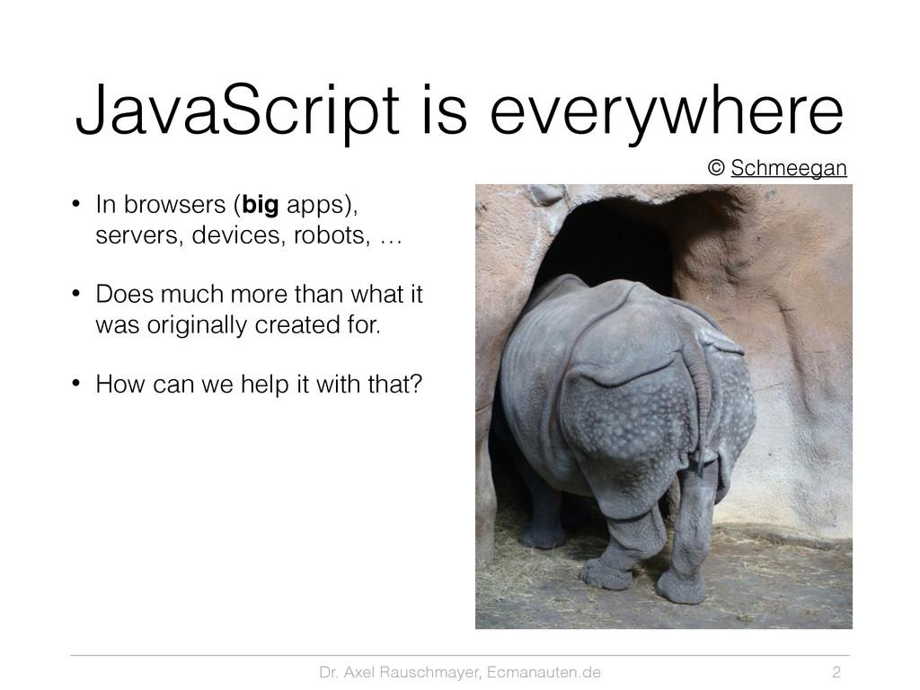 Dr. Axel Rauschmayer, Ecmanauten.de JavaScript ...